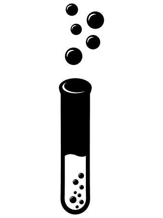 laboratory glass: Laboratory glass icon in black color with bubbles