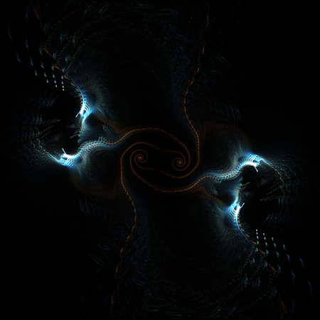 demoniacal: Abstract dark fractal shapes on black background