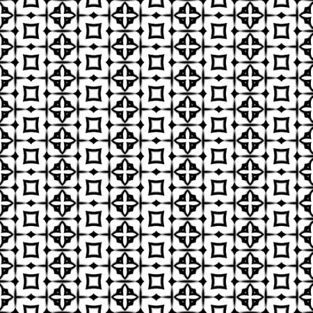 uneven: Abstract kaleidoscopic seamless pattern with uneven brush strokes Stock Photo
