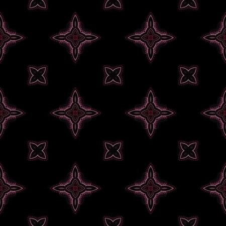 voilet: Abstract kaleidoscopic background as infinite seamless pattern Stock Photo