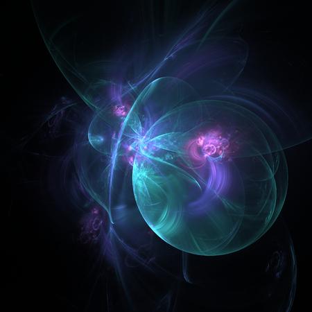 Leuke abstracte fractal vormen op zwarte achtergrond