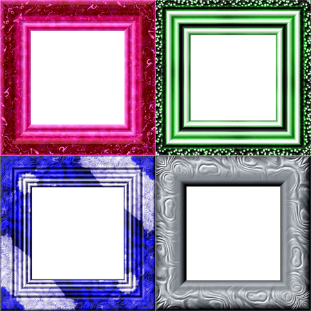 garniture: Set of frames with place for your picture Stock Photo