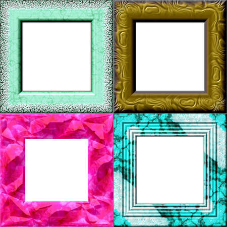 pinkish: Set of frames with place for your picture Stock Photo