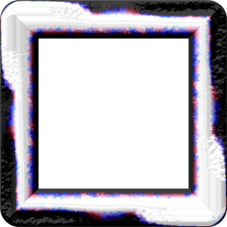 periphery: Nice frame with rounded corners and place for picture Stock Photo