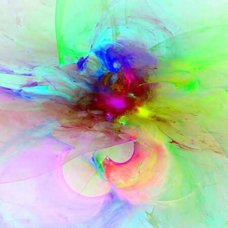 absurd: Crazy abstract melted colorful shapes as wallpaper