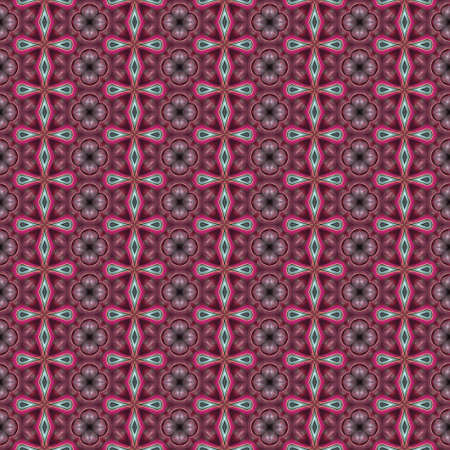 infinite: Abstract kaleidoscopic background as infinite seamless pattern Stock Photo