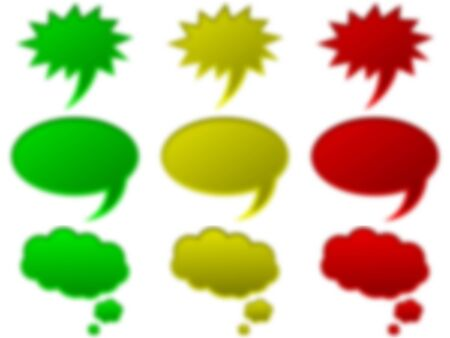 nebulous: Blurred symbols on the whole with white backdrop