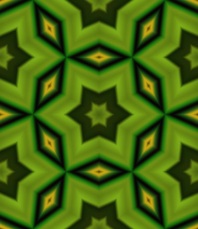 greenish: Seamless pattern with abstract motif like a kaleidoscope