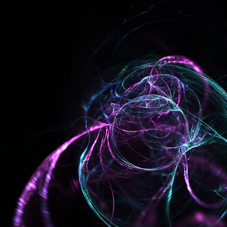 expanding: Cute abstract fractal wallpaper on black background