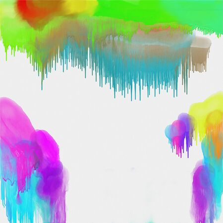 party down: White canvas with abstract colored paint by watercolors