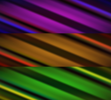 nebulous: Set of three abstract blurry banners with many colors
