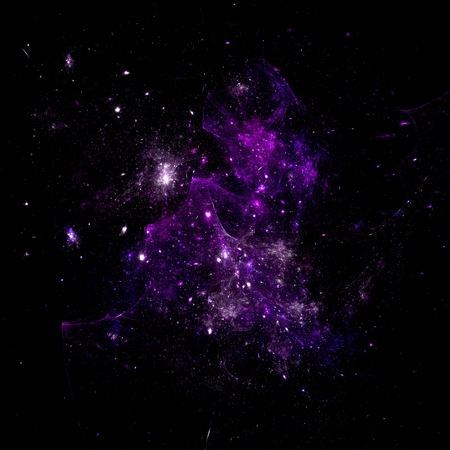 Abstract mauve deep space on black background Stock Photo