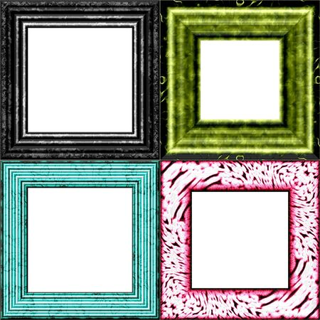 greenish blue: Set of frames with place for picture