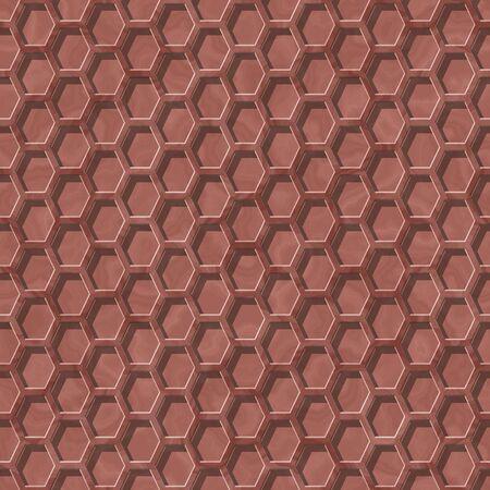 hexa: Nice marsala seamless pattern with hexagonal design Stock Photo