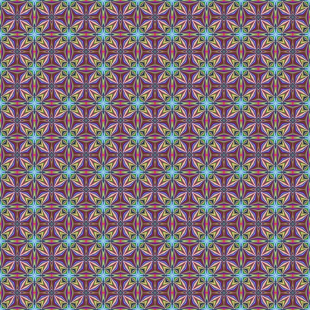 psychedelic background: Seamless pattern with abstract motif like a kaleidoscope