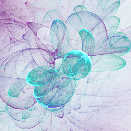 Nice abstract fractal wallpaper on white background
