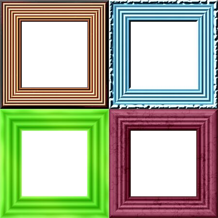 purl: Set of frames with place for picture