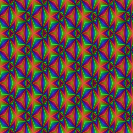 trippy: Abstract seamless pattern with a kaleidoscopic motif Stock Photo