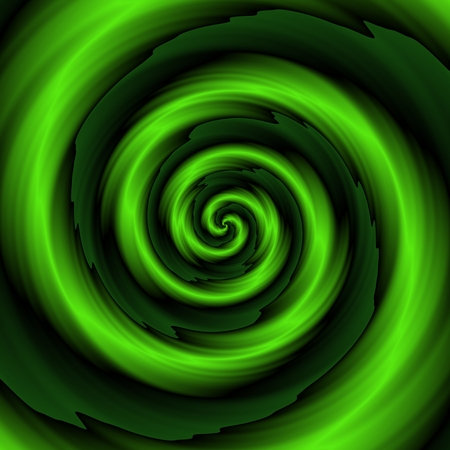 greenish: Crazy and funny abstract spirals in greenish colors