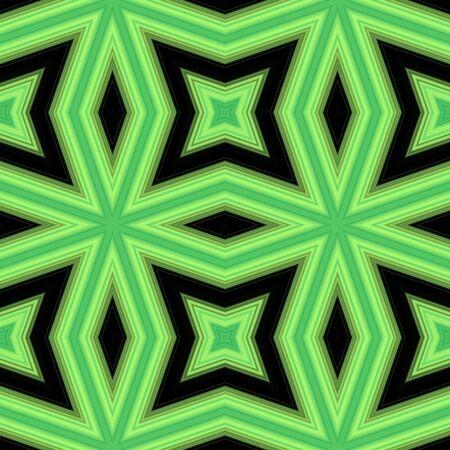 greenish: Seamless pattern with abstract motif like a kaleidoscope