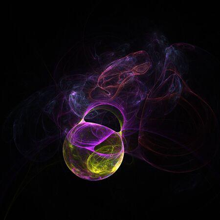 psy: Abstract dark fractal shapes on black background