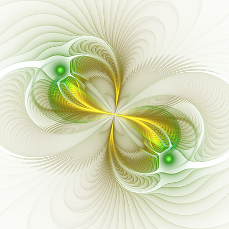 delightfully: Nice abstract fractal shapes on white background