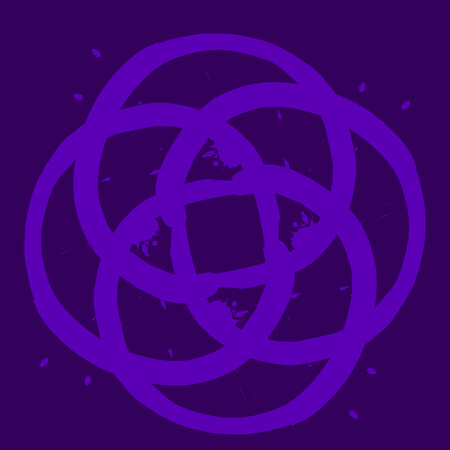mauve: Abstract symbol in shades of violet color