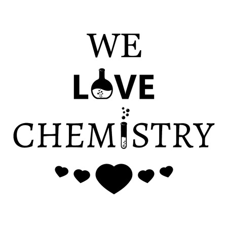 affirmation: Image with hearts and text We love chemistry