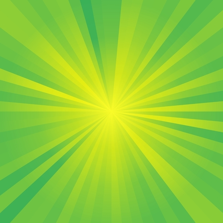 green backgrounds: Abstract green burst background with yellow rays