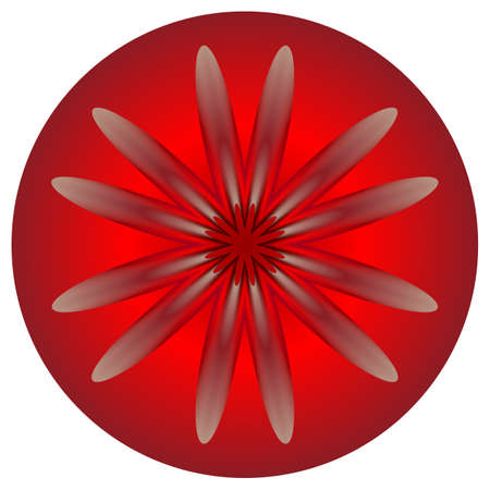 bloom: Red abstract symbol like a nice bloom