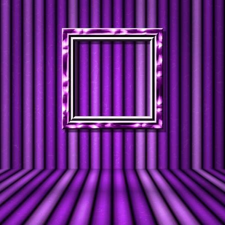 violet: Violet room with violet frame and crazy wall