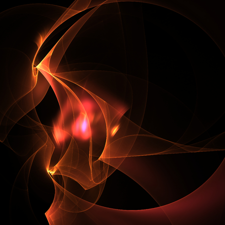 delightfully: Nice abstract fractal shapes on black background