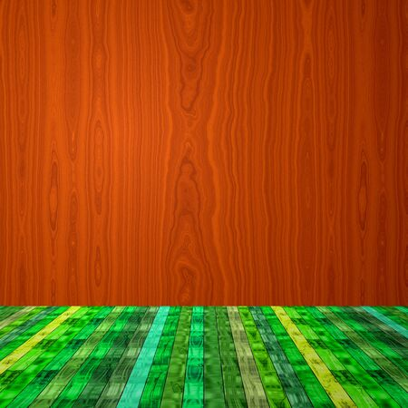 tranquillity: Empty wooden room in many colors