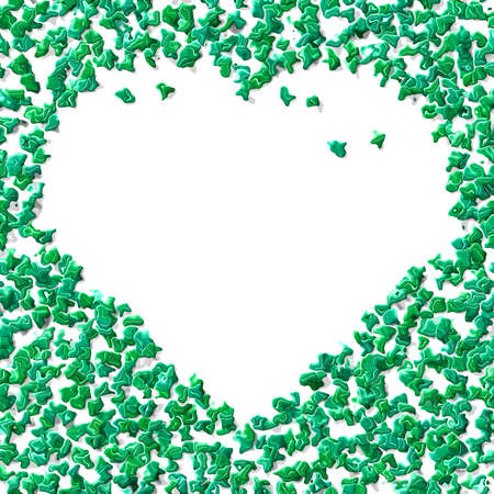 greenish: Crazy abstract melted greenish heart as wallpaper
