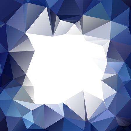 scrunch: Abstract sharp bluish wallpaper with triangular pattern Illustration