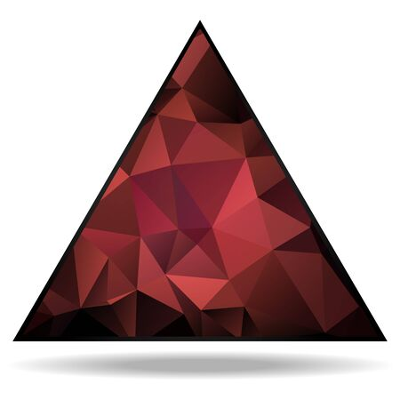 rumple: Lovely dark pink triangle with triangular pattern