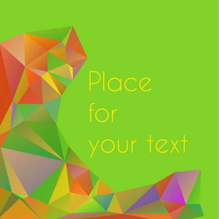 rumple: Cute wallpaper in triangular pattern with place for text