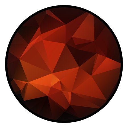rojo oscuro: Cute dark red circle with triangular pattern