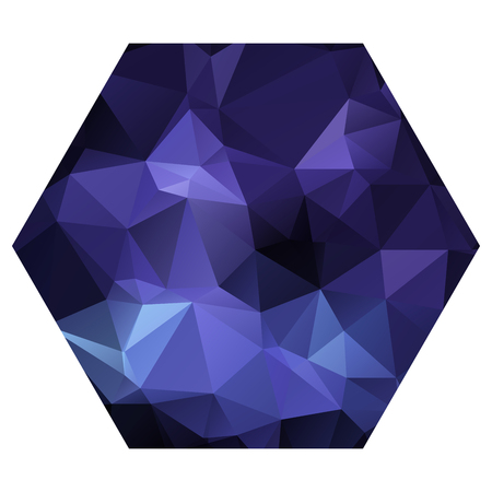crinkle: Cute dark blue hexagon with triangular pattern