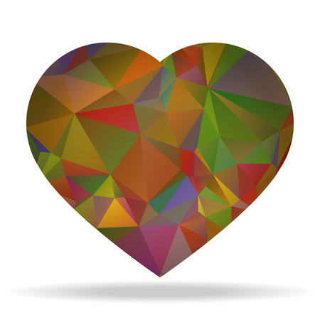 rumple: Abstract nice heart shape with triangular pattern Illustration