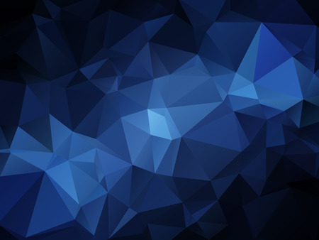 rumple: Abstract blue colored wallpaper with triangular pattern Illustration