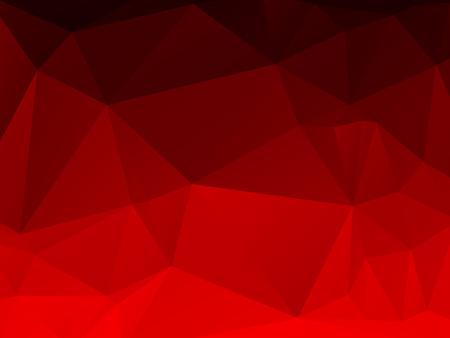 fondo rojo: Fondo de pantalla de color hermosa abstracta con el modelo triangular Vectores