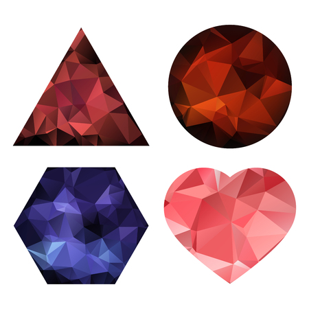 rumple: Lovely cute set of shapes with triangular pattern