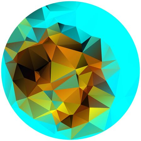 crinkle: Abstract nice circle shape with triangular pattern