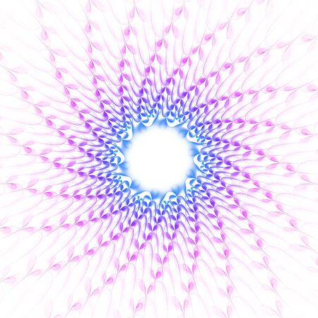 kinetic: Nice abstract fractal shapes on white background