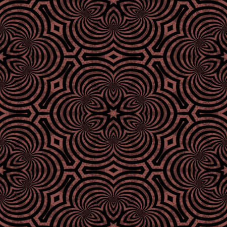 repetition: Seamless pattern with abstract motif like a kaleidoscope
