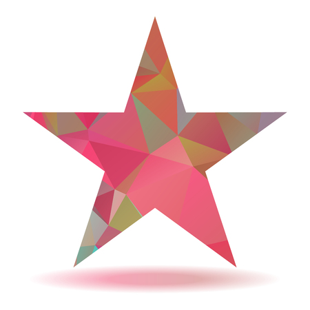 pinkish: Abstract lovely colored star with triangular pattern Illustration