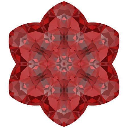 thrive: Crazy symmetrical shape isolated on white background