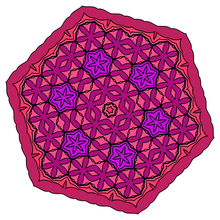 mauve: Crazy symmetrical shape isolated on white background