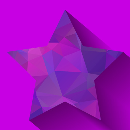 rumple: Nice abstract triangular star with long shadow Illustration